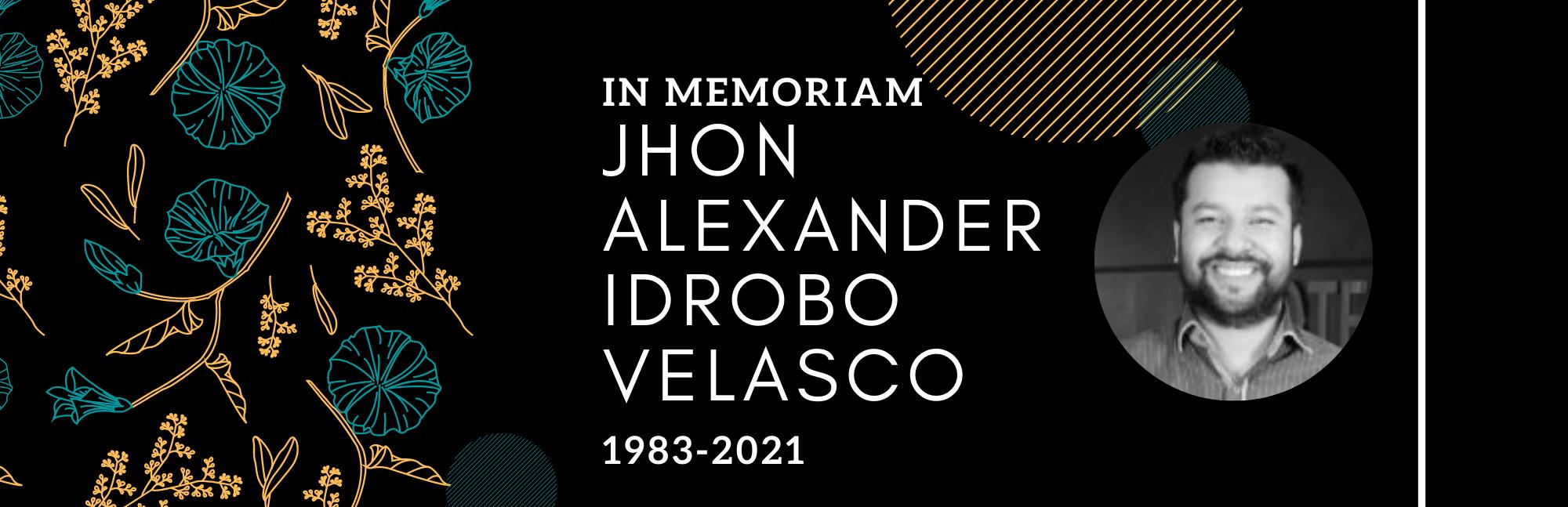 Lamentamos el fallecimiento de Jhon Alexander Idrobo Velasco